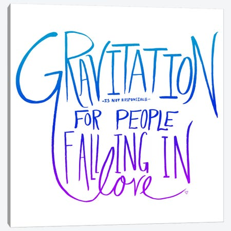 Love & Gravity II Canvas Print #LFS15} by Leah Flores Canvas Print
