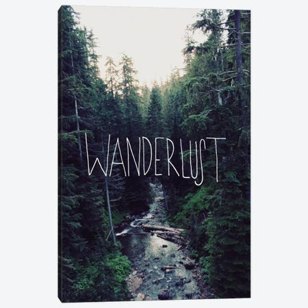 Wanderlust Rainier Creek Canvas Print #LFS19} by Leah Flores Canvas Wall Art