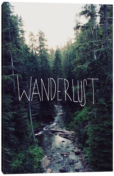 Wanderlust Rainier Creek by Leah Flores Canvas Wall Art