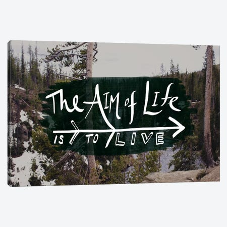 The Aim of Life Canvas Print #LFS1} by Leah Flores Canvas Art Print