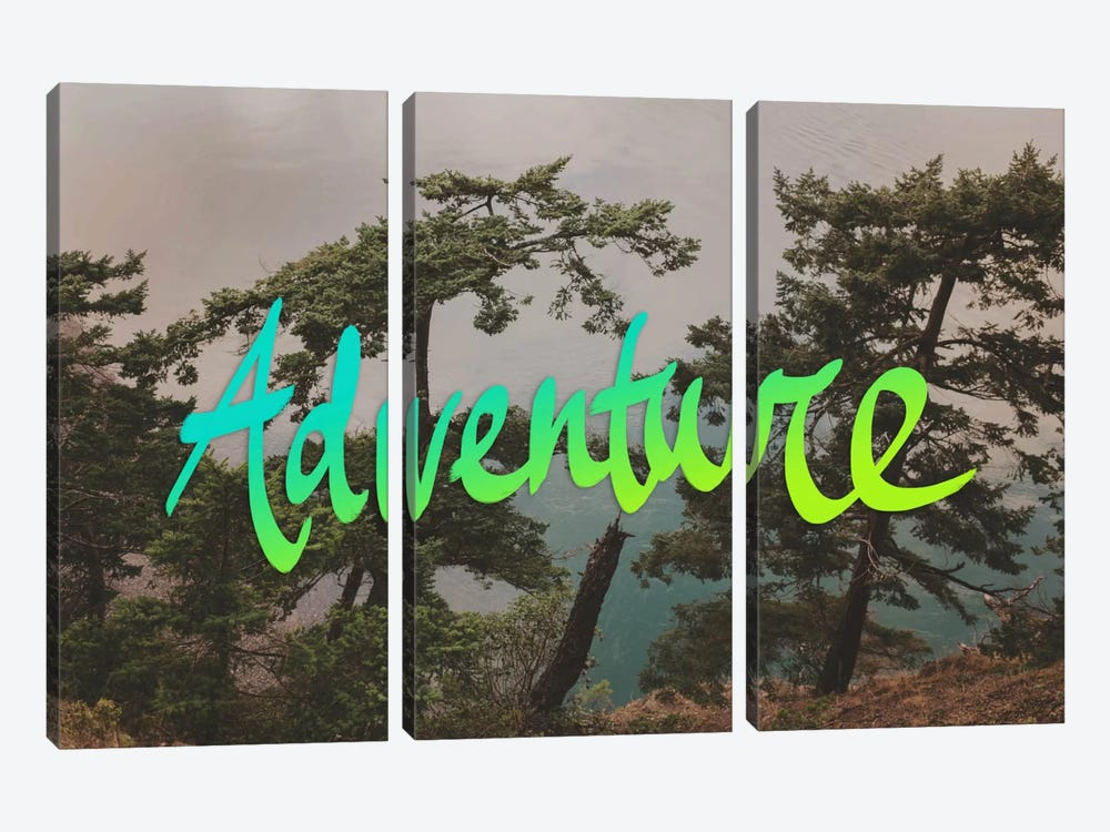 Adventure (Whidbey Island) by Leah Flores 3-piece Canvas Wall Art