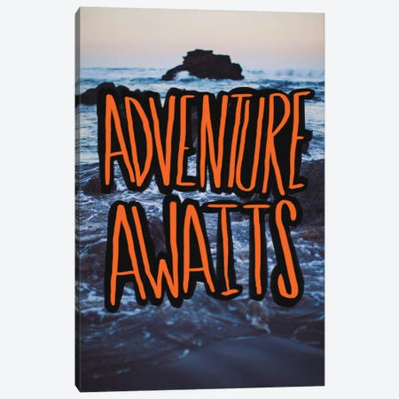 Adventure Awaits Canvas Print #LFS24} by Leah Flores Canvas Art