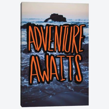 Adventure Awaits Canvas Print #LFS24} by Leah Flores Canvas Art