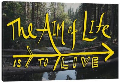 Aim of Life Canvas Art Print