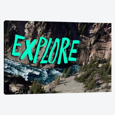 Explore River Canvas Print #LFS28} by Leah Flores Canvas Art Print