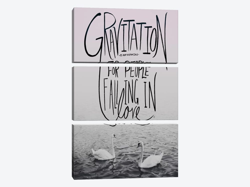 Gravitation II by Leah Flores 3-piece Canvas Wall Art