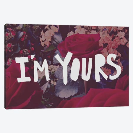 I'm Yours Canvas Print #LFS34} by Leah Flores Canvas Print