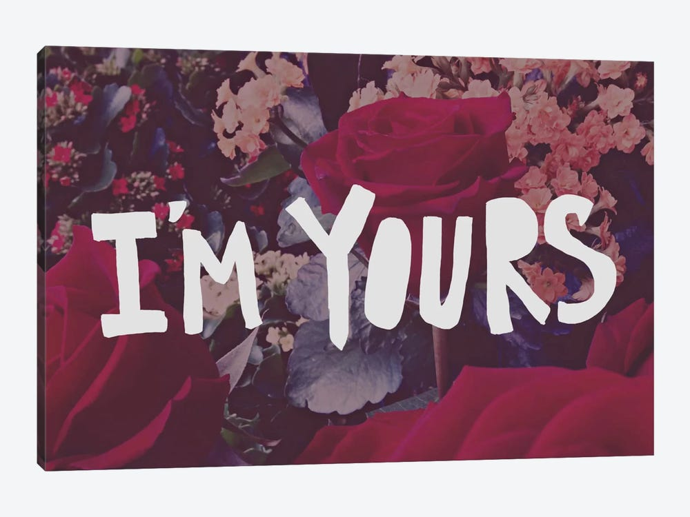I'm Yours by Leah Flores 1-piece Canvas Artwork
