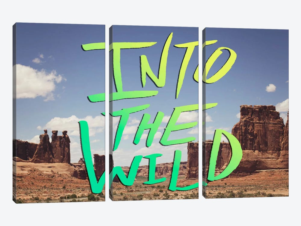 Into the Wild (Moab) by Leah Flores 3-piece Canvas Art