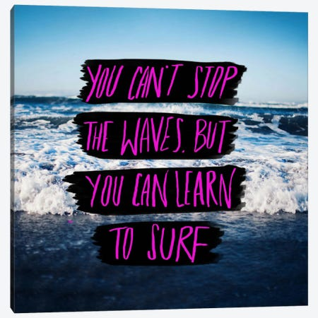 Learn to Surf Canvas Print #LFS38} by Leah Flores Canvas Wall Art