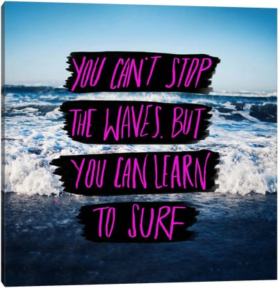 Learn to Surf Canvas Art Print