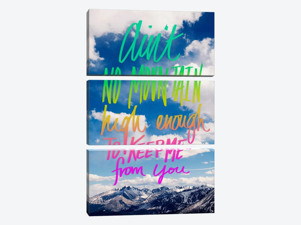 Ain't No Mountain by Leah Flores 3-piece Canvas Wall Art