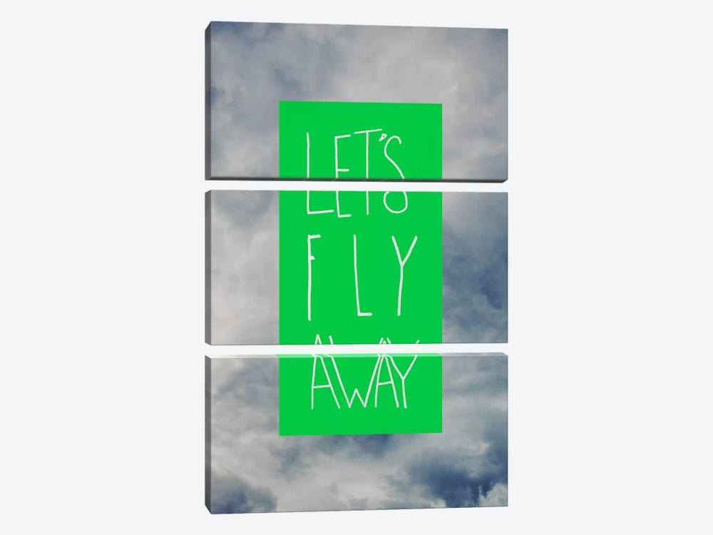 Let's Fly Away by Leah Flores 3-piece Art Print