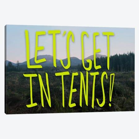 Let's Get In Tents Canvas Print #LFS41} by Leah Flores Canvas Art Print