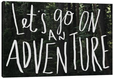 Let's Go On An Adventure Canvas Art Print