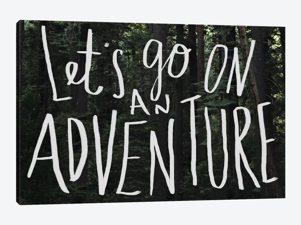 Let's Go On An Adventure by Leah Flores 1-piece Canvas Print