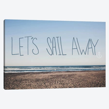 Let's Sail Away Canvas Print #LFS45} by Leah Flores Canvas Artwork