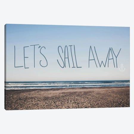 Let's Sail Away Canvas Print #LFS45} by Leah Flores Canvas Artwork
