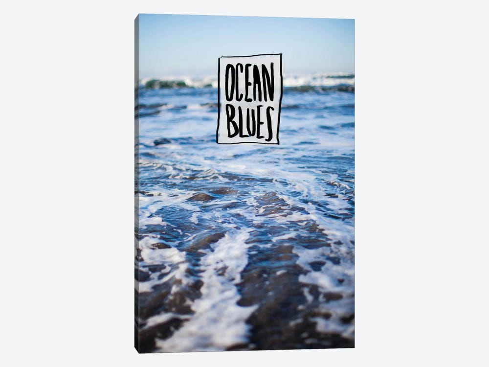 Ocean Blues by Leah Flores 1-piece Canvas Art Print