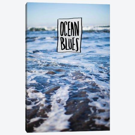 Ocean Blues Canvas Print #LFS48} by Leah Flores Canvas Art Print