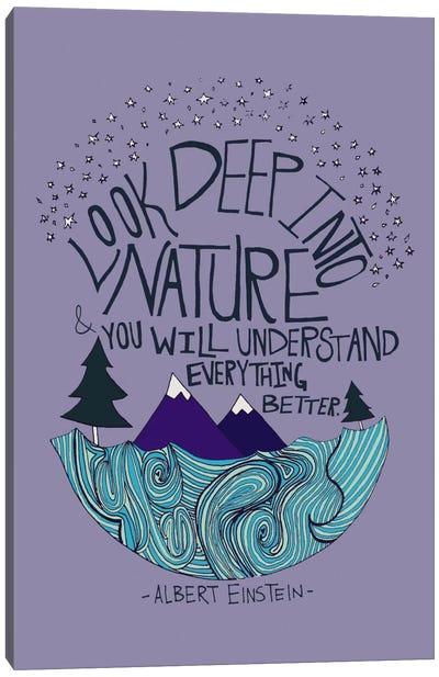 Albert Einstein - Nature Canvas Print #LFS4