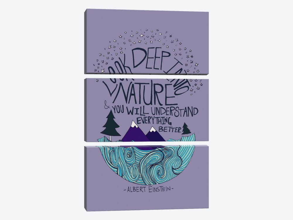 Albert Einstein - Nature by Leah Flores 3-piece Art Print