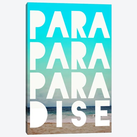PARADISE Canvas Print #LFS50} by Leah Flores Canvas Wall Art