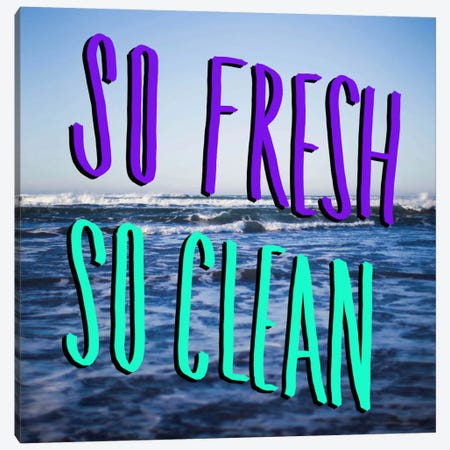 So Fresh So Clean Canvas Print #LFS51} by Leah Flores Canvas Artwork