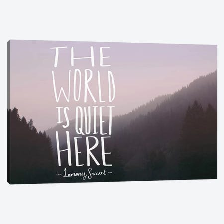 The World is Quiet Here Canvas Print #LFS53} by Leah Flores Canvas Art