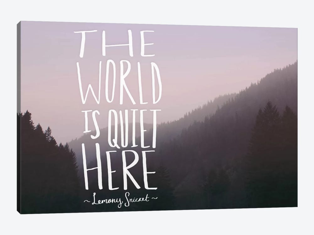 The World is Quiet Here by Leah Flores 1-piece Canvas Art Print