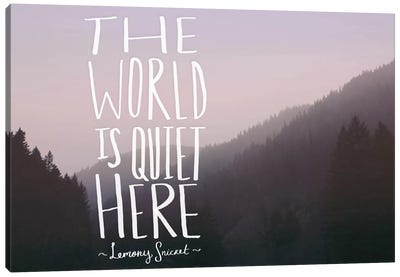 The World is Quiet Here Canvas Art Print