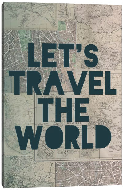 Travel the World Canvas Art Print