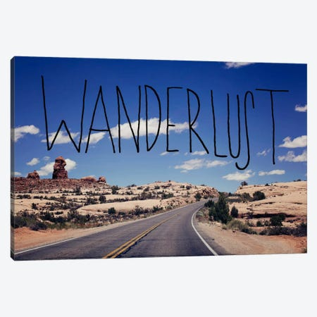 Wanderlust Road Canvas Print #LFS57} by Leah Flores Canvas Print