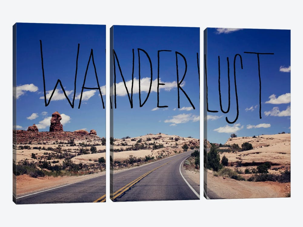 Wanderlust Road by Leah Flores 3-piece Canvas Print