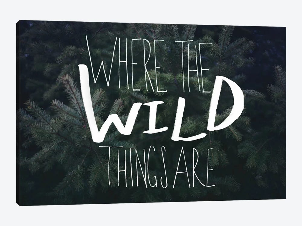 Where the Wild Things Are by Leah Flores 1-piece Canvas Wall Art