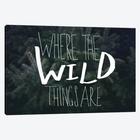 Where the Wild Things Are Canvas Print #LFS58} by Leah Flores Canvas Wall Art
