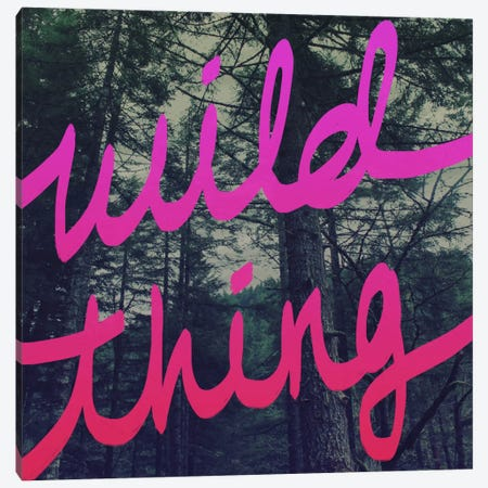 Wild Thing Canvas Print #LFS59} by Leah Flores Canvas Wall Art