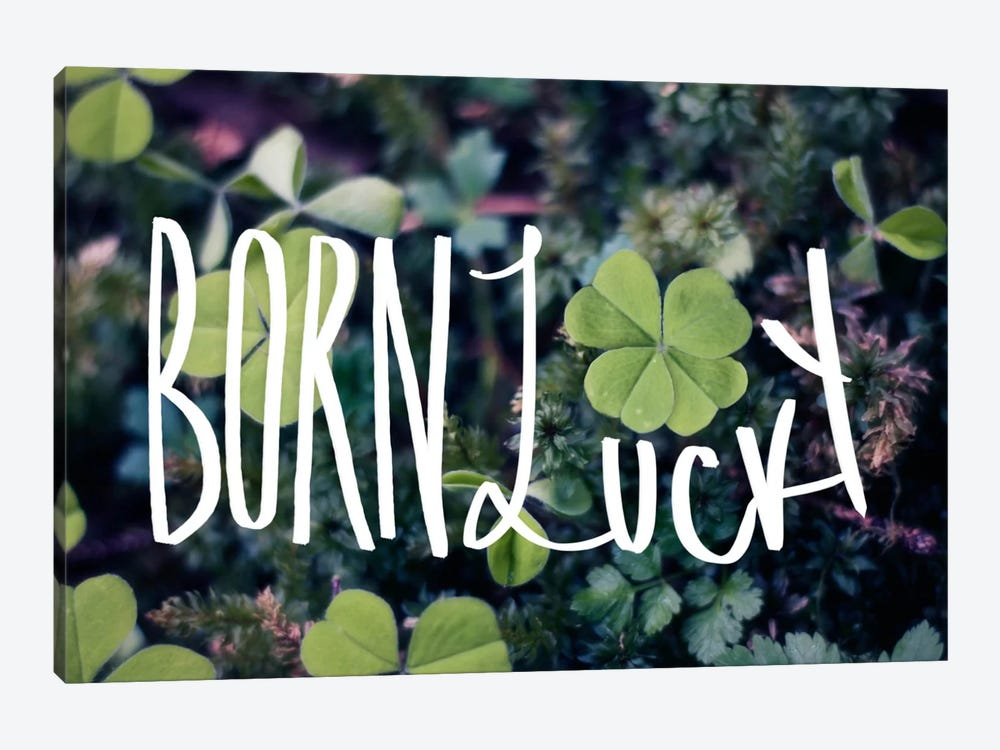 Born Lucky by Leah Flores 1-piece Canvas Artwork