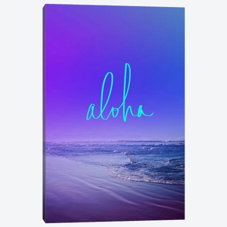 Aloha Canvas Print #LFS61} by Leah Flores Art Print