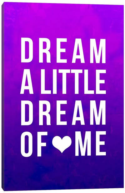 Dream Purple Art Canvas Art Print