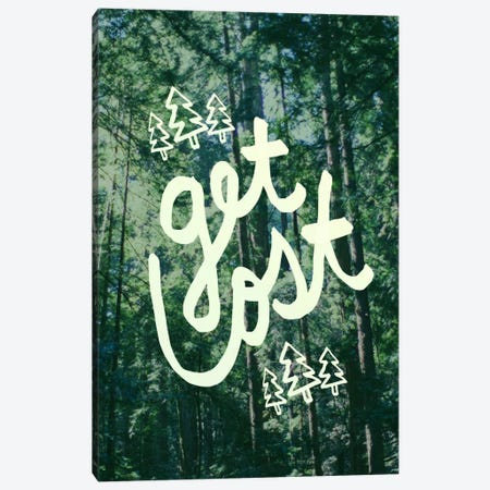 Get Lost Forest Canvas Print #LFS64} by Leah Flores Canvas Art