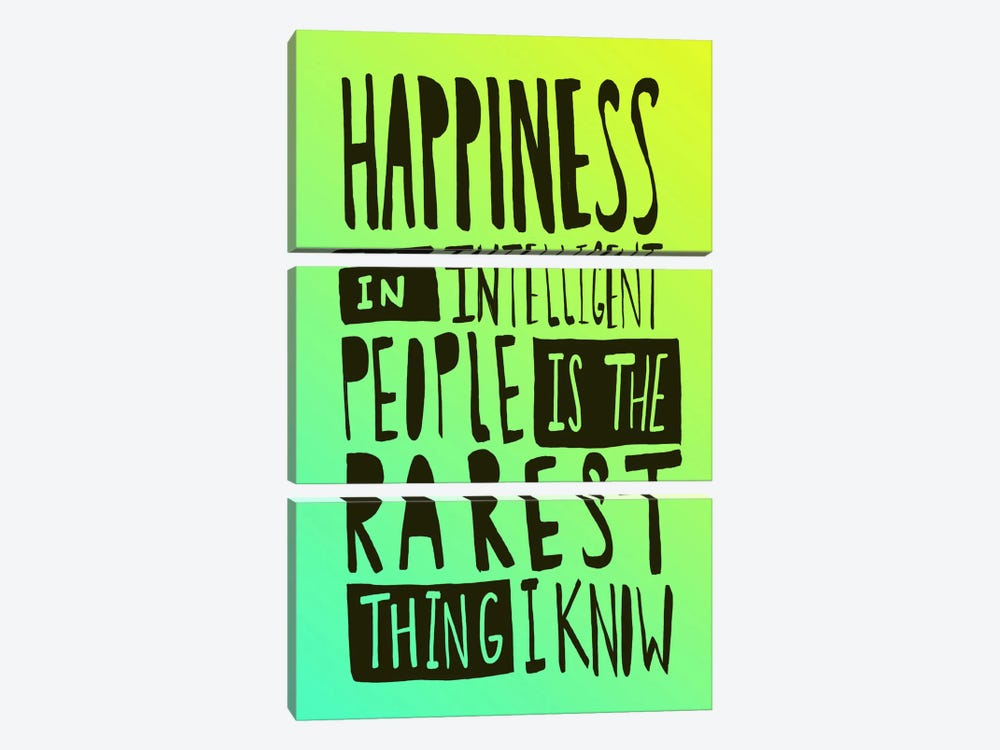 Hemingway Happiness by Leah Flores 3-piece Canvas Art Print