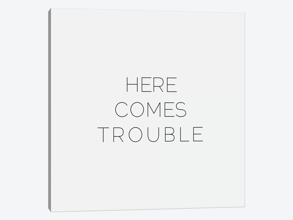 Here Comes Trouble by Leah Flores 1-piece Canvas Art
