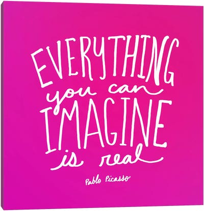 Imagine Pink Canvas Art Print