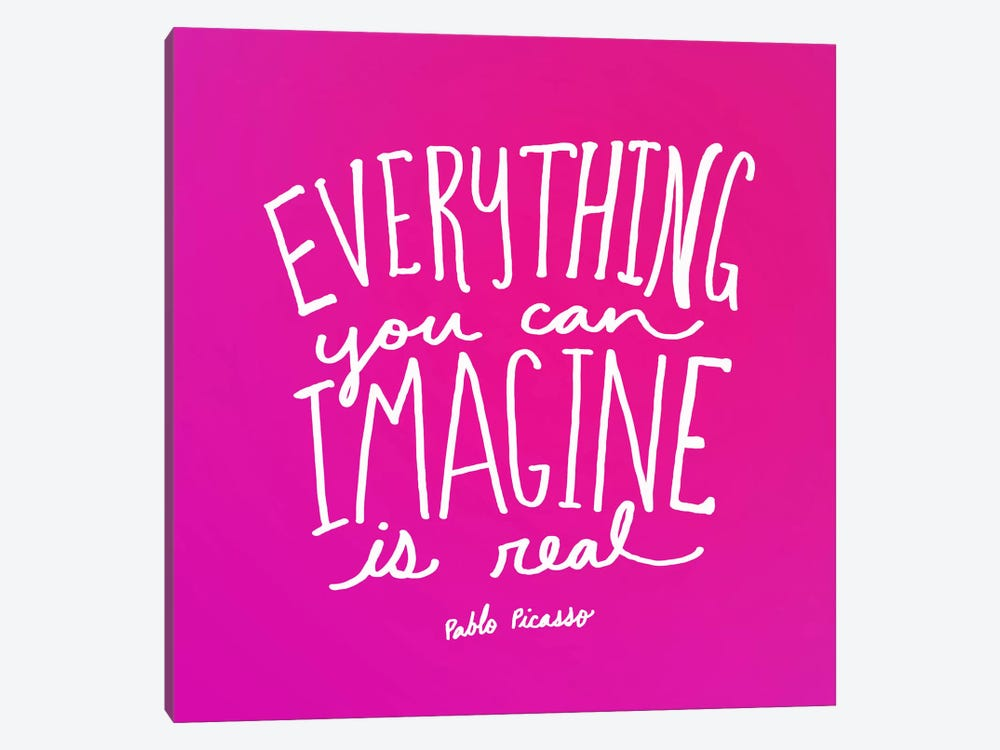 Imagine Pink by Leah Flores 1-piece Canvas Art