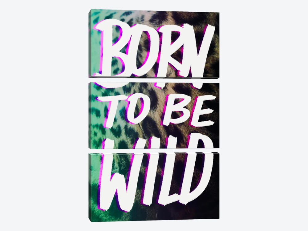 Born to Be Wild by Leah Flores 3-piece Canvas Art Print