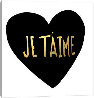 Je T'aime Heart Canvas Art Print