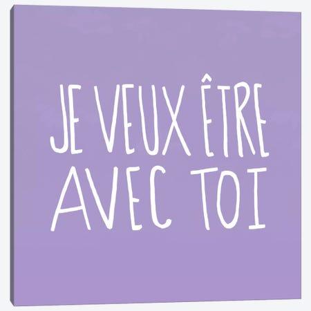 Je Veux Être Avec Toi Canvas Print #LFS71} by Leah Flores Canvas Wall Art