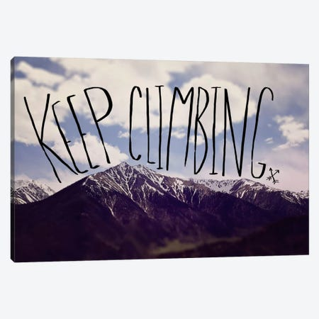 Keep Climbing Canvas Print #LFS72} by Leah Flores Canvas Art