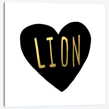 Lion Heart Canvas Print #LFS75} by Leah Flores Canvas Art Print